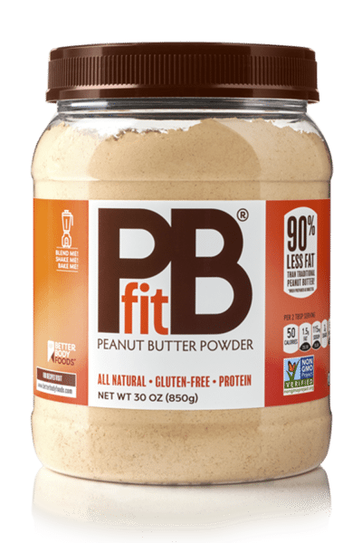 container of pb fit powdered nut butter