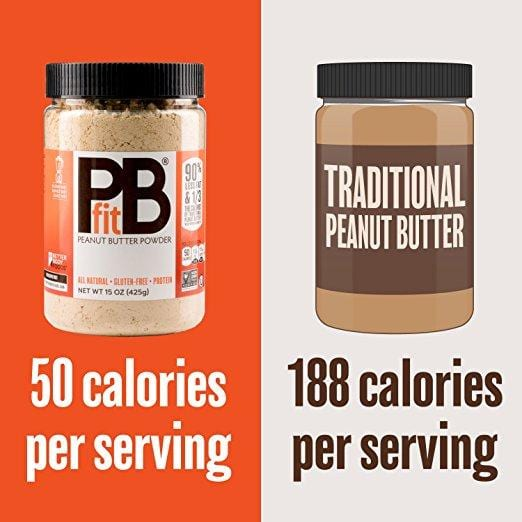 pb fit organic peanut butter powdered compared to traditional peanut butter